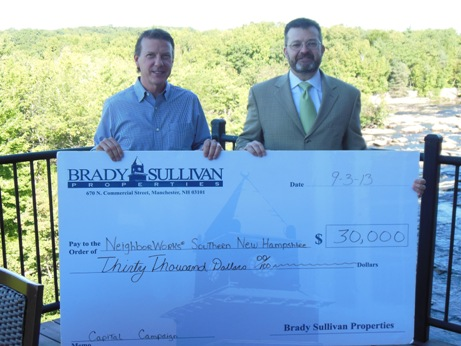 Brady Sullivan Properties Makes Contribution to NeighborWorks® Southern New Hampshire's  Twentieth Anniversary Capital Campaign