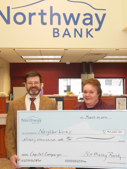 Northway Bank Presents $90,000 Check